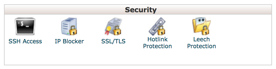 arvixe security section, choose SSL/TLS